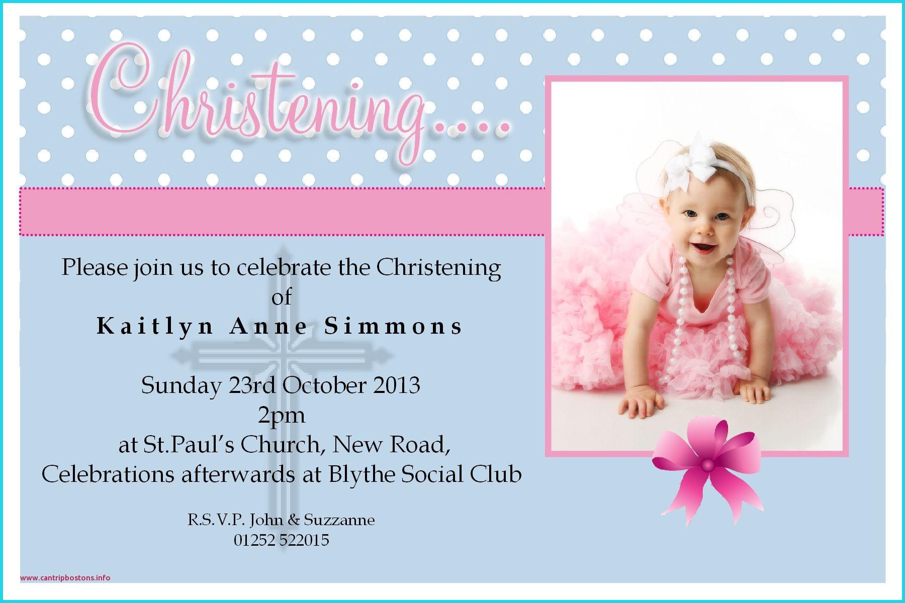 Blank Christening Invitation Templates Fresh Christening Invitation ...