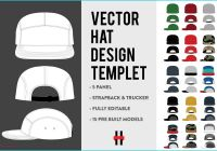 5 Panel Hat Template Unique 5 Panel Hat Vector Design Flats Product Mockups Creative Market