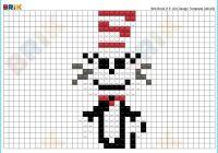 Blank Cat In the Hat Template Luxury Cat In the Hat Pixel Art – Brik
