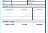 Blank Personal Financial Statement Template Unique 28 Of Easy Personal Financial Statement Template