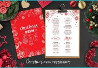 Christmas Card Template for Photoshop Inspirational Christmas Food Menu Template Creative and Modern Food Menu