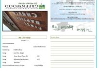 Church Visitor Card Template Awesome Church Bulletin Template