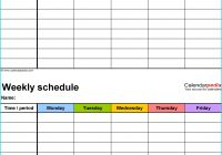 Daily Schedule Template Printable Luxury Course Schedule Planner Online Weoinnovate