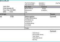 Pay Stub Template Word Document Fresh Fake Proof Insurance Templates with 1099 Pay Stub Template Free