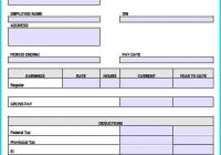 Pay Stub Template Word Document Lovely 7 Paystub Template
